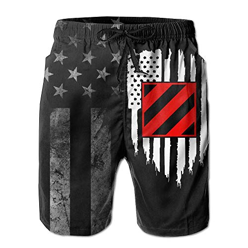 Us 3rd Infantry Division - SANNER-SU American Flag US Army 3rd Infantry Division Men's Beach Shorts Swim Trunks - Swimsuit Athletic Shorts