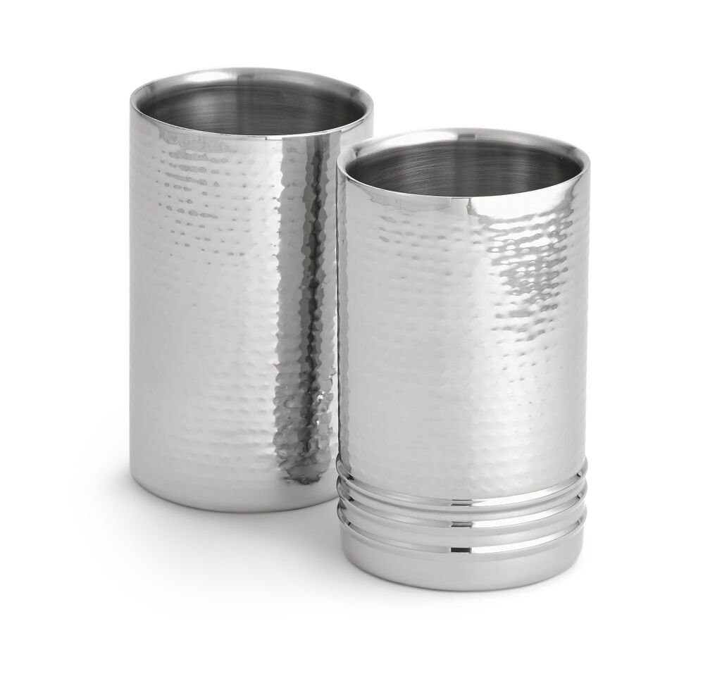 Artisan Set of 2 Tabletop Stainless Steel Wine Bottle Chiller/Coolers by NUCU