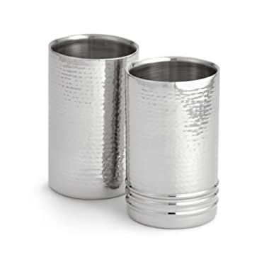 Artisan Set of 2 Tabletop Stainless Steel Wine Bottle Chiller/Coolers