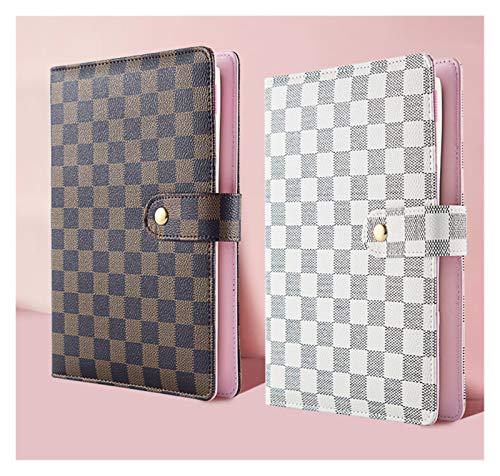 Agenda Diary Planner Notebook Diary, Travel Diary Gift Stationery, Office and School Supplies Loose-Leaf (Color : White, Size : A5(Rose Gold))