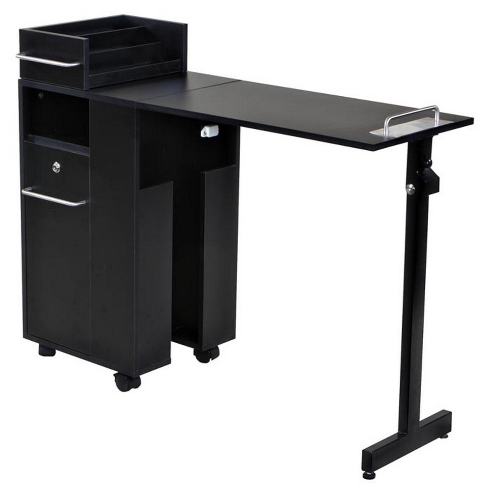 Icarus ''Exceptional'' Black Manicure Nail Table Station