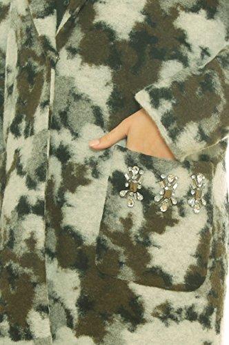 Cappotto Cappotto Cappotto Bianco Camouflage Over Over Over Over Lana Misto Fantasia in Sporco CwnzqCB6