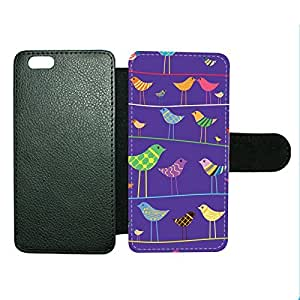 Case Fun Case Fun Bird on a Wire Faux Leather Wallet Case Cover for Apple iPhone 6 4.7 inch