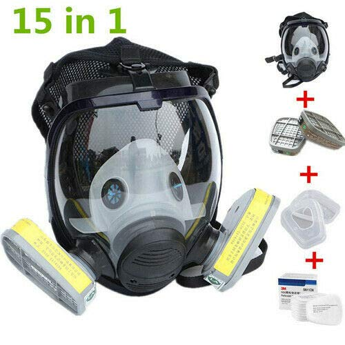 WALLER PAA 15 in 1 Facepiece Respirator Painting Spraying For 3M 6800 Full Face Gas Mask