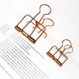 Treading - Metal Long Tail Clips Gold Paper Clips Color Clips Mini Clips Multifunctional Metal Bookmark [ L ]