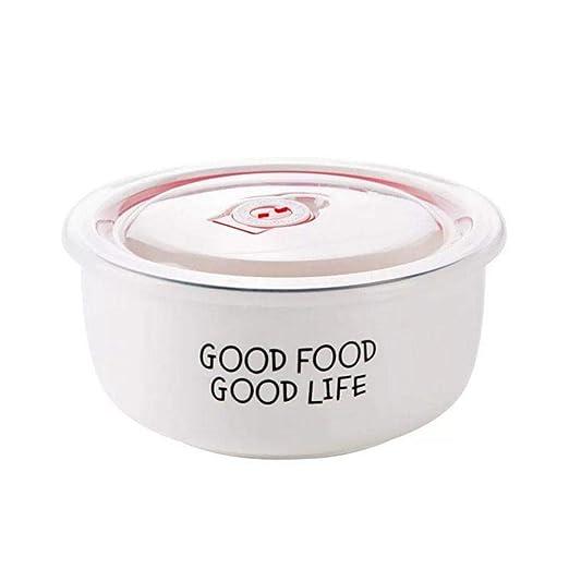 Cuenco de cerámica para microondas, color sólido, simple ...