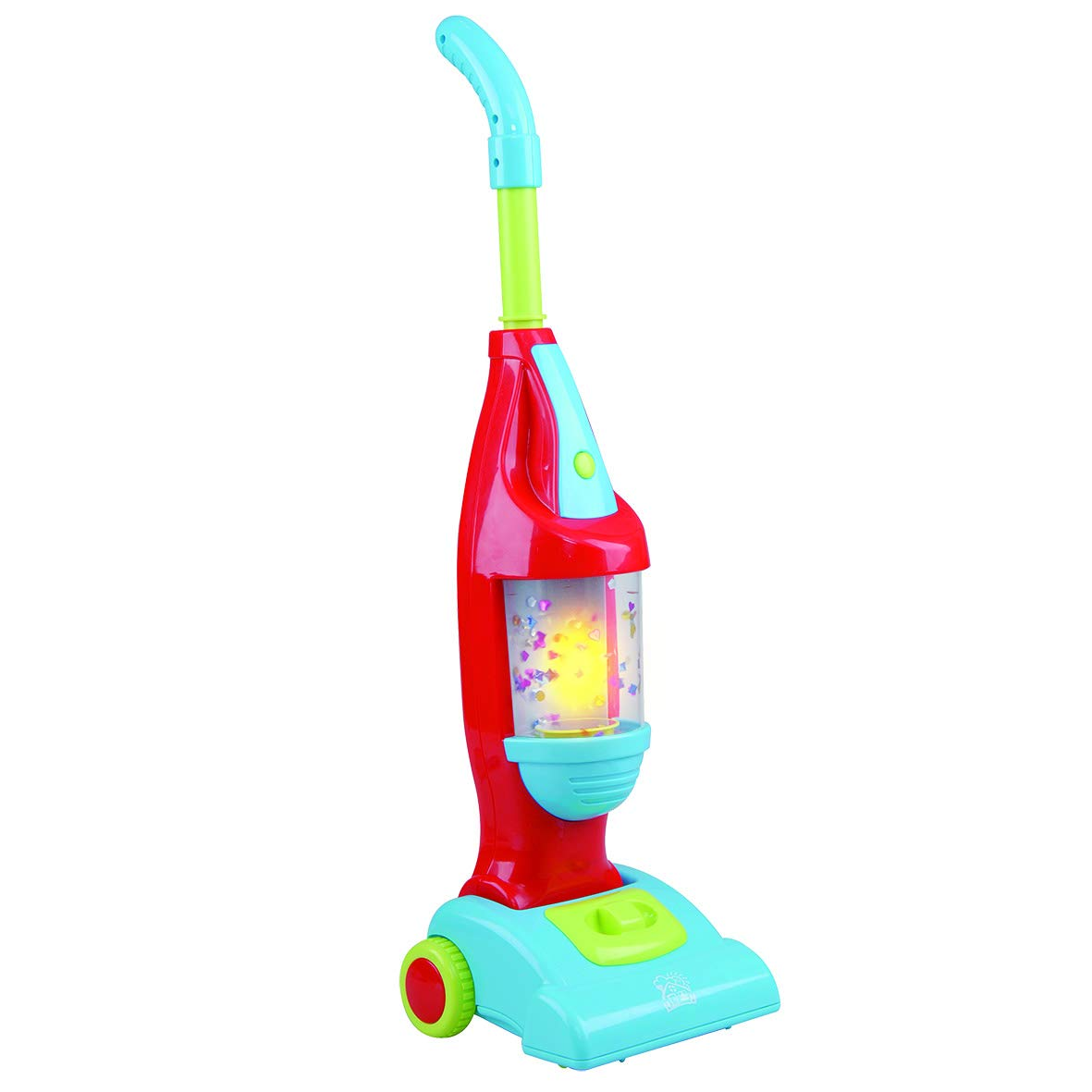 Pretend Play My Light Up Playset Cleaning Vacuum for Toddlers & Kids with Sound Effects Trolley Cart with Real Suction by PlayGo
