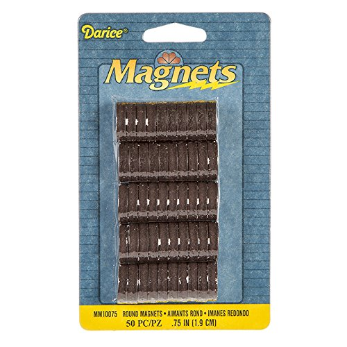 Darice MM10075 50-Piece High Energy Round Magnets, 3/4-Inch