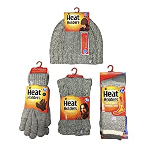 Heat Holders – Ladies Thermal Winter Hat, Glove, Neck Warmer & Socks Set S/M