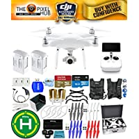 DJI Phantom 4 Advanced+ Drone MEGA Ready To Fly EXTREME ACCESSORY BUNDLE with Aluminum Case, Vest Strap, Extra Props, Landing Pad Plus Much More (2 Batteries Total)