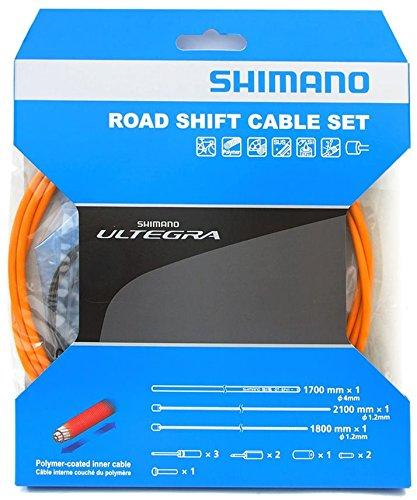 Shimano Polymer Road Bicycle Shift Cable Set (Orange) by SHIMANO