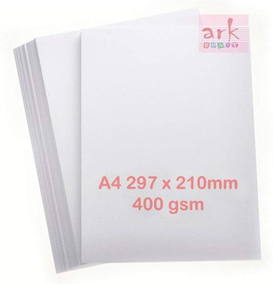 ARK A4, 400 g//m/², 25 unidades color blanco Tarjeta de impresi/ón