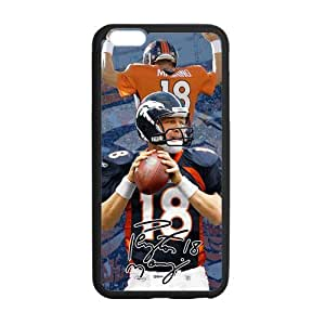 Peyton Manning Snap On iphone 6 Cover, NFL iphone 6 Case, Protector For iphone 6 (4.7 inch) (Black/White)