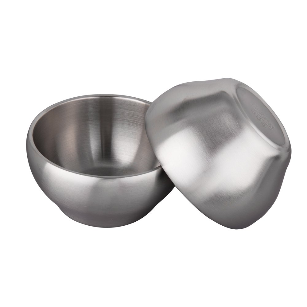 IMEEA 28oz Heavy Duty Double-deck Brushed SUS304 Stainless Steel Serving Bowls Set BPA Free, Set of 2 (5.9inch) by IMEEA (Image #3)