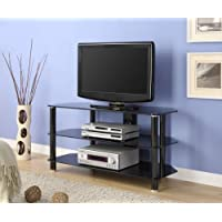 Innovex Glass TV Stand, Black