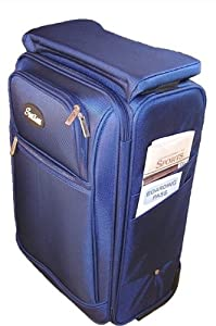 Amazon.com: Seatkase SK-BLU 23 In. Carry-On Luggage, Blue ...