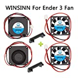 WINSINN for Ender 3 / Pro Fan 24V 40mm Blower Turbine Turbo Fan 40x10mm 4010 Fan DC Brushless Hydraulic Bearing Cooling with Air Guide Parts (Pack of 4Pcs)
