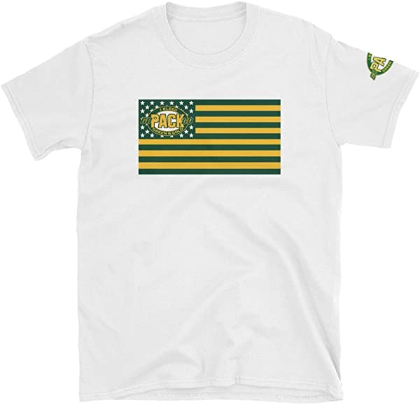 89e8e0bb58d8 Represent the Pack and the American Flag This makes for a great staple  t-shirt. It s made of a thicker