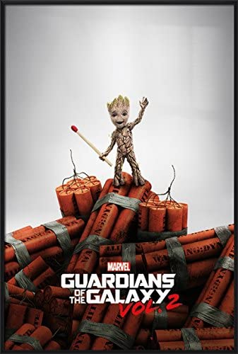 Baby Groot and Dynamite Guardians of The Galaxy 2 Movie Poster 24 x 36 inches