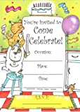 Kids Party Pets Invitations, Fill-In Style, 8 Pack