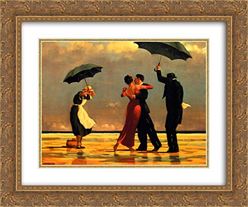 - The Singing Butler 2X Matted 24x20 Gold Ornate Framed Art Print by Jack Vettriano