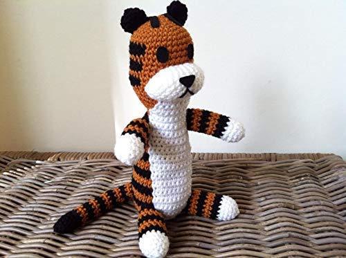 Large Harold the plush tiger crochet toy gift, stuffed