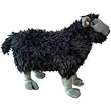 "ADORE 14"" Standing Rebel the Black Sheep Stuffed Animal Plush Toy"