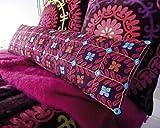Suzani - Phulkari cushion with filling