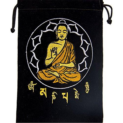 Black Velve Buddha Tarot Card Bag