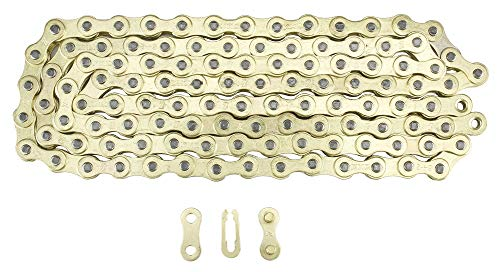 - KMC Z1 Bicycle Chain Single Speed 1/2 x 1/8 inch 112L Gold