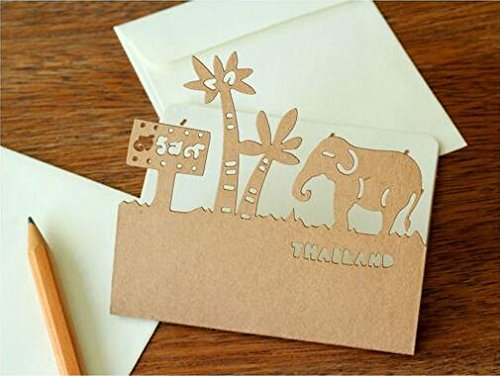 9 pcs/lot Cute Create Hollow Out Paper Kraft Envelope With Greeting Card Korean Stationery Wholesale (Stencil Dabber)