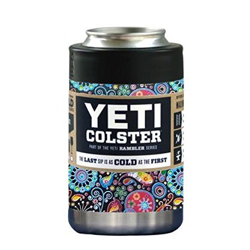 YETI Coolers Custom Rambler Colster Stainless Steel Insulated Beverage Holder Tumbler Cup Mug - Keep your 12 Ounce (12 oz) (12oz) beer or soda, can or bottle, cold for hours (Paisley)