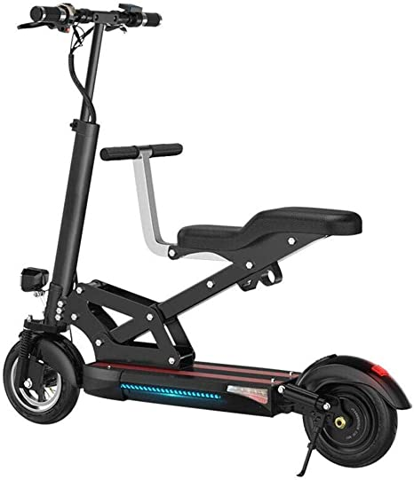 RXRENXIA Bicicleta Eléctrica, 48V 500W Portátil De Viaje Plegable ...