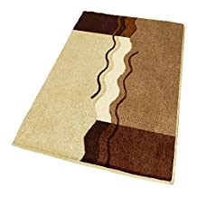 "Non Slip Brown Bath Rug (Extra Large 27.6"" x 47.2"")"