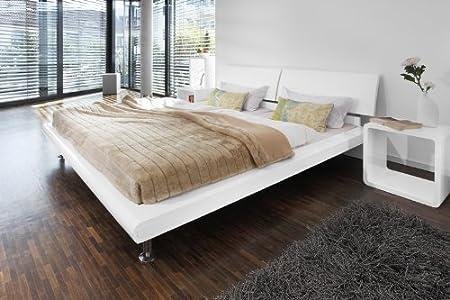 Salesfever Paradise Luxus Bett 180 X 200 Cm Hochglanz Weiss Amazon