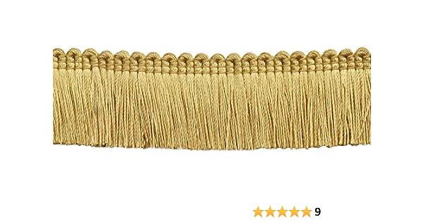 4.5 M // 15 Ft B7 1 1//4 inch Basic TrimBrush Fringe Style# 0150SB Color: Light Gold 5 Yard Value Pack of Light Gold