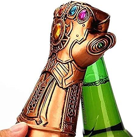 Sacacorchos Nuevo abridor de Botellas Caliente, abridor de Tapas de Cerveza y Soda, abridor de Botellas de Metal en Forma de puño para Fans de Marvel, Regalos, Amigos