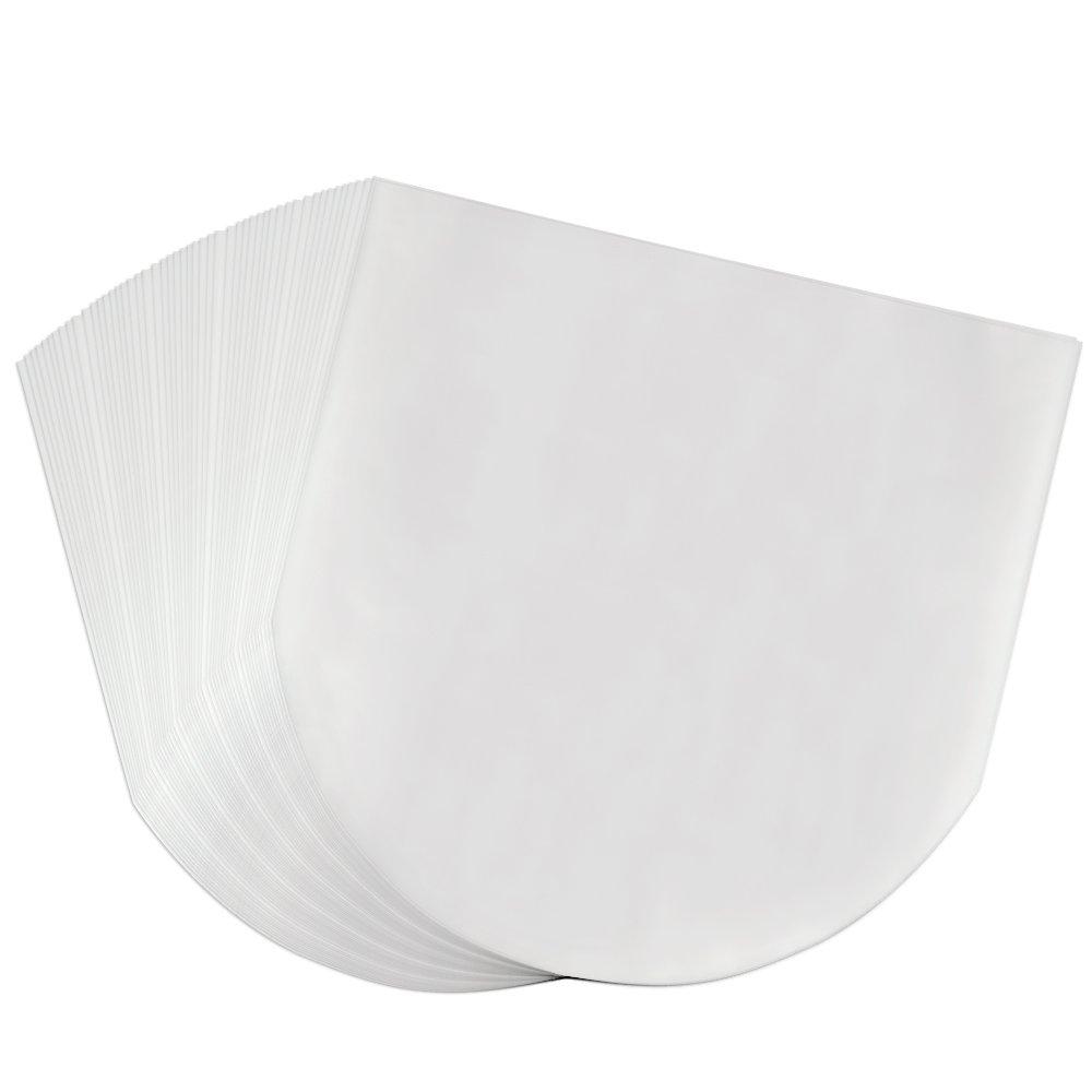 OPount 50 Pieces Semi-Transparent Inner Plastic Record Cover Sleeves for 12 inch Vinyl LP Album