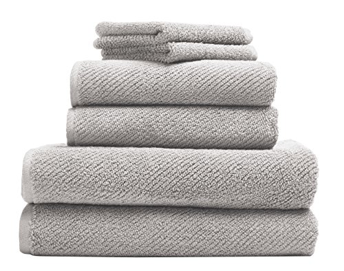Coyuchi Air Weight Organic 6pc Towel Set, BT, HT, WC, Fog by Coyuchi