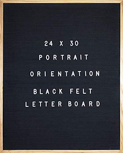 (Black Felt Letter Board 24 X 30 Portrait Orientation with 692-Piece Set of 1