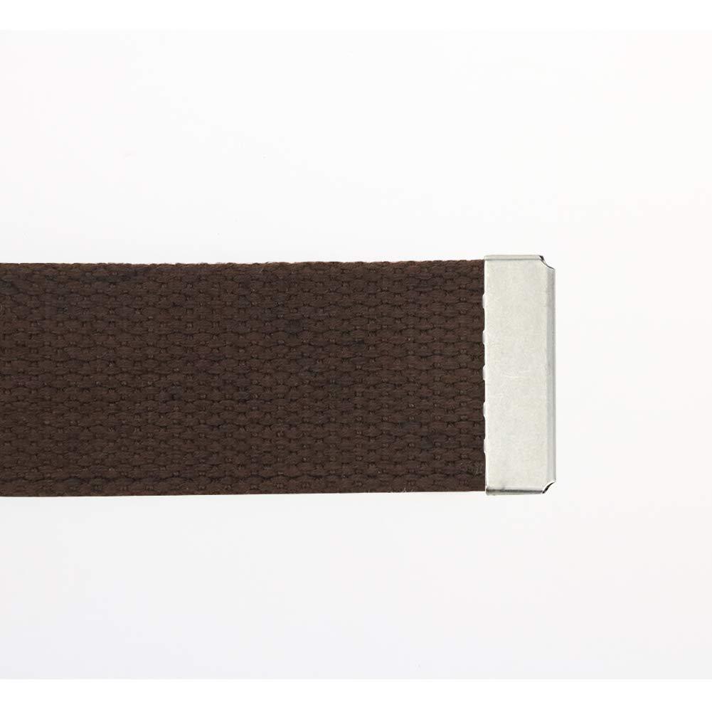Maikun Men's Tactical Belt Metal Buclkle Solid Color Canvas Belt Father's Day Gifts by Maikun (Image #4)