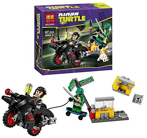 NW Teenage Mutant Turtles Karai Bike Escape Building Bricks Blocks Education Toys Best Gift Compatible with minifigures