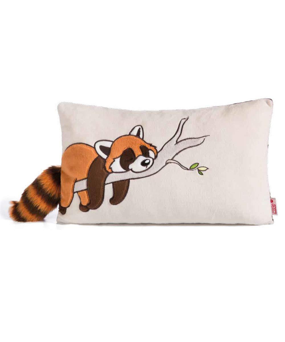43 x 25 cm Auf dem kuscheligen Plüschkissen der Wild Friends Kollektion ist der Rote Panda Red Rod abgebildet Nici 42305 Das Kissen ist in der Farbe Creme gehalten Hellbraun//braun ca NI42305