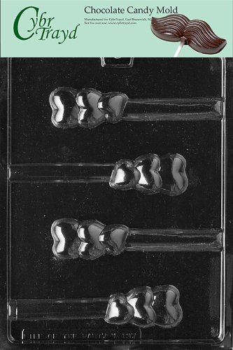 - Cybrtrayd V137 Triple Heart Pretzel Valentine Chocolate Candy Mold