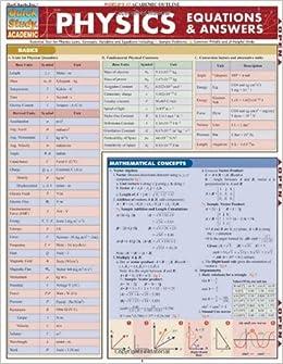 Physics (Quick Study Academic) (Qucik Study Academic): Inc ...
