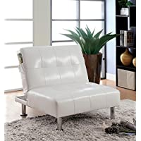 Furniture of America Pirelli Convertible Chair, White