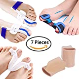 PAAZA Bunion Corrector, Bunion Relief Kit - Cure Pain In big toe joint, tailors bunion, Hallux Valgus, Hammer Toe, Toe Separators Spacers Straighteners Splint Aid Surgery Treatment (7 Pieces)