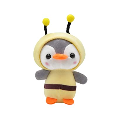 Asdf586io Cute Keychain Penguin Bee Animal Plush Doll Pendant Keychain Ring Key Holder Bag Decor Comfortable to Touch Easy to Hang Yellow: Home & Kitchen