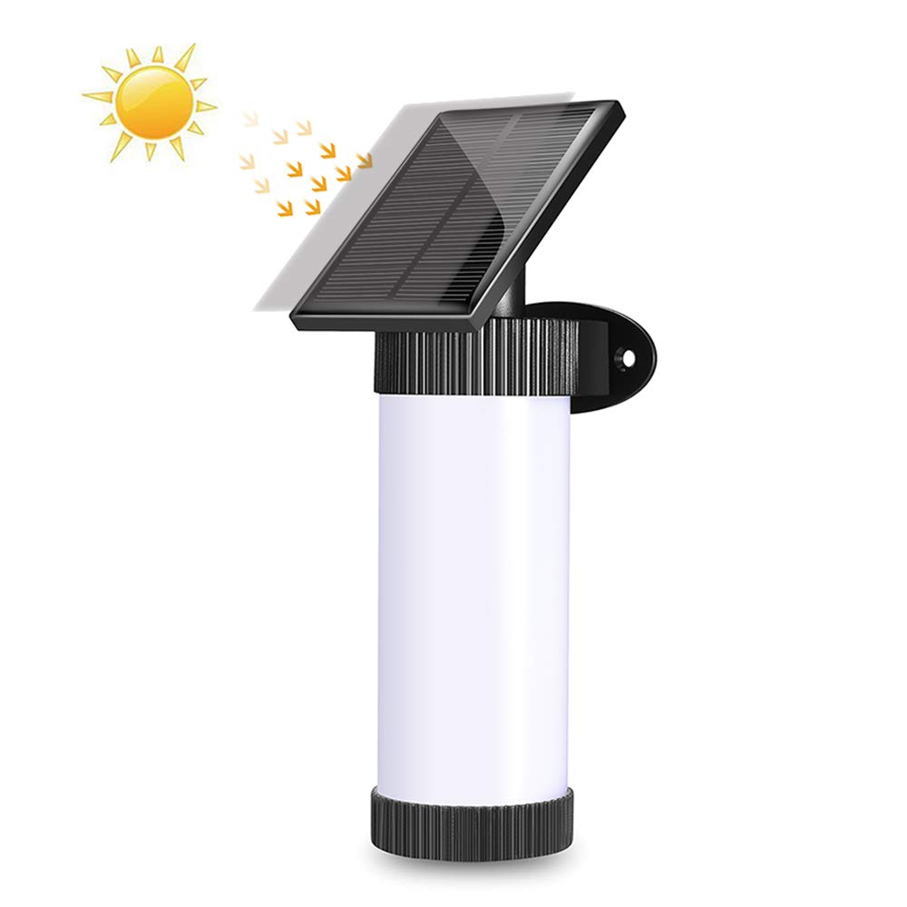 Solar Torches Lights,2 PCK Waterproof Flickering Flames Wall Lights Outdoor Solar Powered Path Lights Dancing Flame Lighting Dusk to Dawn Auto On/Off for Garden Pathway Patio Yard by Powstro (Image #5)