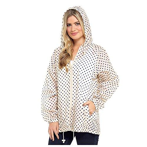 Storm Ridge Ladies Spots Pack Away Rain Mac Jacket Cream